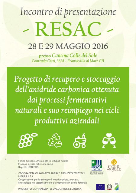RESAC progetto di recupero e stoccaccio anidride carbonica